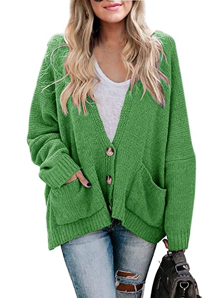 Womens Plus Size Cardigan Oversized Cable Knit Button Down Chunky Sweater  Coats with Pockets