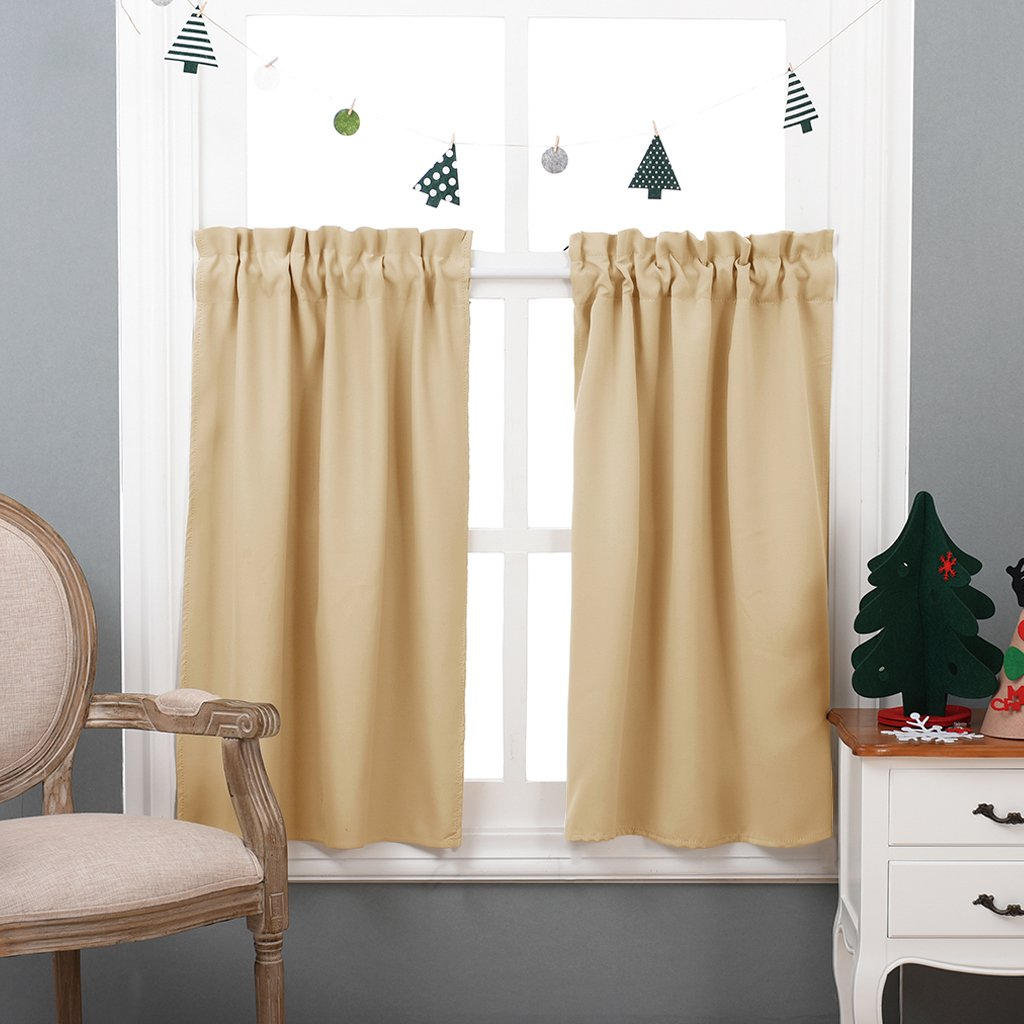 Patio Indoor Outdoor Curtains 95 - Nicetown Home Fashion Microfiber Thermal Insulated Silver Grommet Blackout Curtains