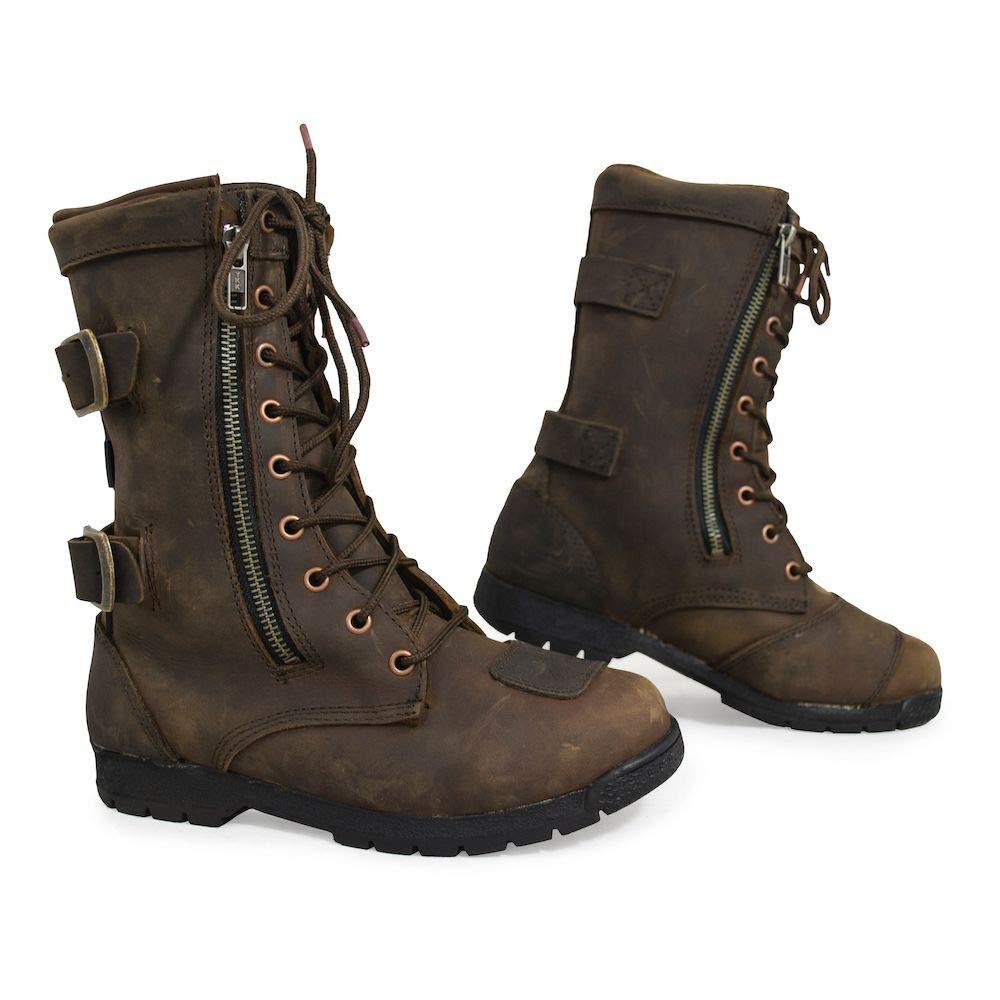 A82096 ARMR Moto Tara Ladies Boots Brown UK 6