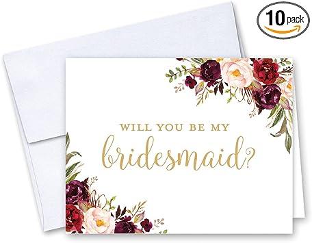 Amazon.com: Tarjeta de felicitación para dama de honor con ...