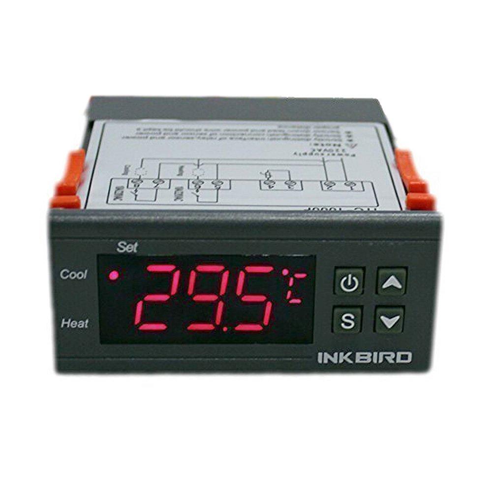 Inkbird 110V All-Purpose Digital Temperature Controller Centigrade Thermostat + 2 Relays Sensor Inkbird Tech