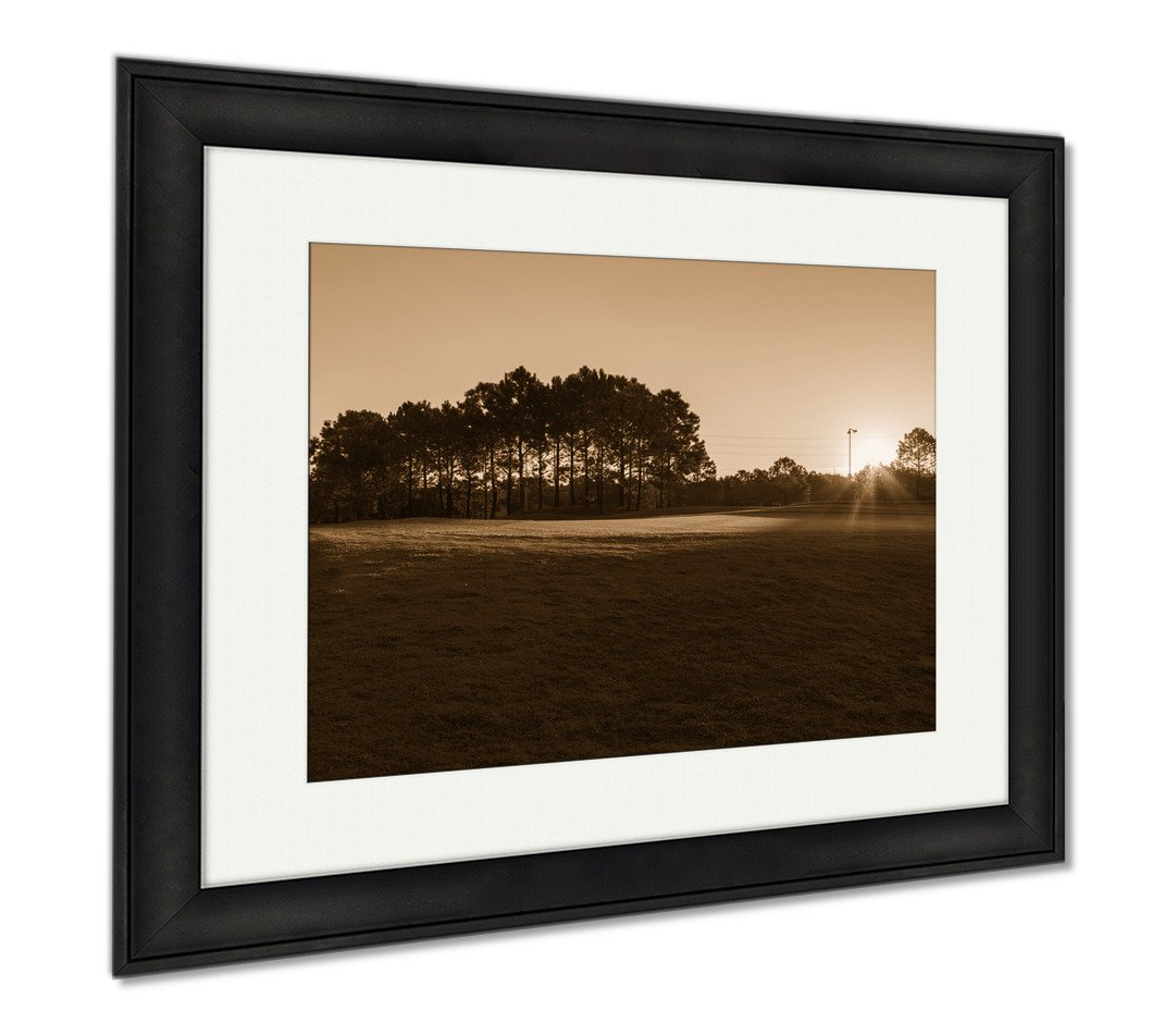Ashley Framed Prints Golf In Spa Resort Morning On The Golf Orlando Florida USA, Wall Art Home Decoration, Sepia, 34x40 (frame size), Black Frame, AG6483619