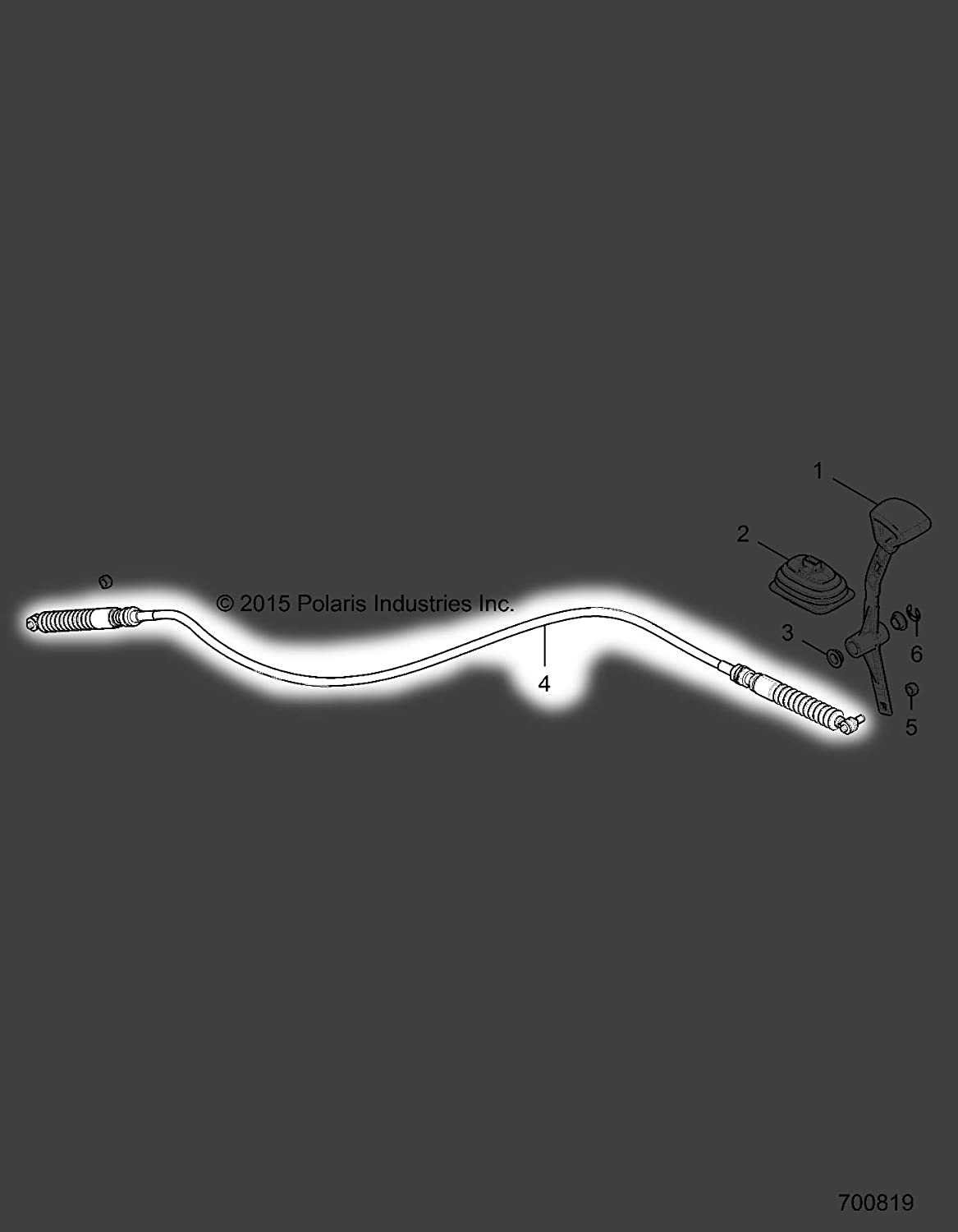 Dudubuy Gear Shift Cable for 2017-2018 Polaris General-4 1000 7082176 New