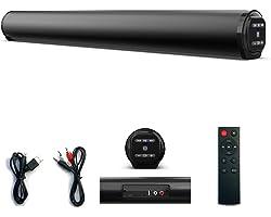 Soundbar, Barra de som Alto-falante com fio Bluetooth Surround Soundbar para PC TV Alto-falantes externos remotos