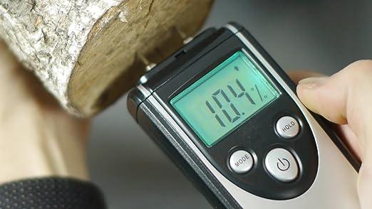 ennoLogic Feuchtigkeitsmessger/ät f/ür Holz und Baustoffe eH710T Feuchtigkeitsmesser mit 7 Materialeinstellungen und Lufttemperaturmessung