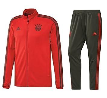 8d384552636 adidas 2018 2019 FCB FC Bayern München Survêtement pour Homme Rouge Gris