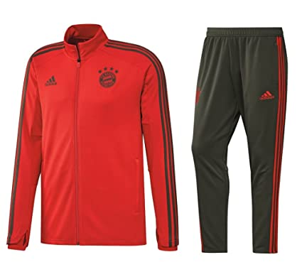 1cf9bb117d095 adidas FC Bayern Múnich Chándal 2018 2019 FCB Hombre Chaqueta Pantalones  Rojo Gris