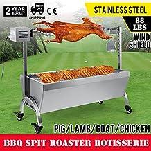 OrangeA BBQ Pig Lamb Rotisserie Roaster Skewer Roast Grill Motor 110V 18W BBQ Portable Picnic Outdoor Cooker Grill (Capacity 88Lbs/40KG)