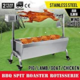 OrangeA BBQ Pig Lamb Rotisserie Roaster Skewer Roast Grill Motor 110V 18W BBQ Portable Picnic Outdoor Cooker Grill (Capacity 88Lbs/40KG)