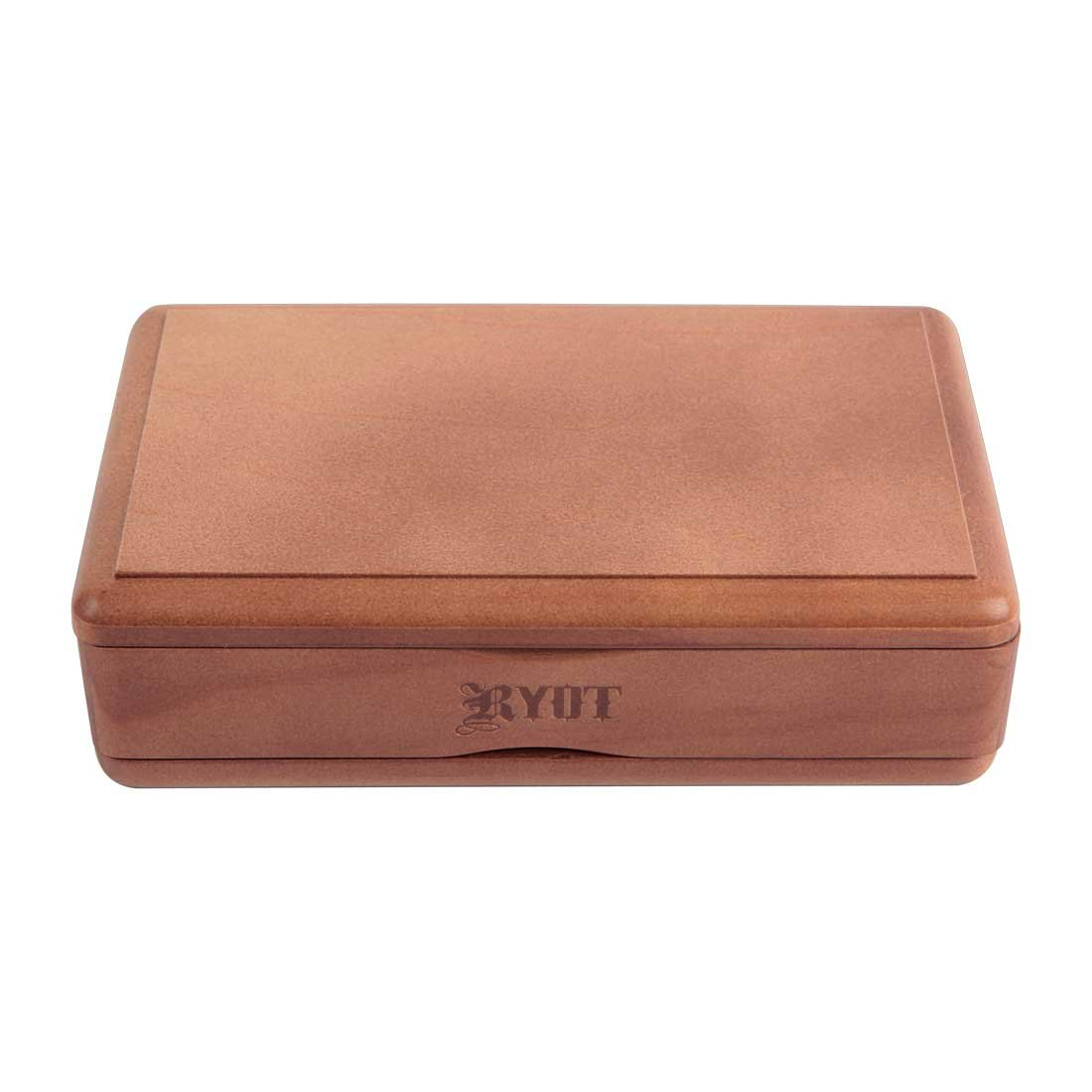 RYOT 4x7'' Solid Top Box in Walnut| Premium Wooden Box Perfect for Sifter - Monofilament Mesh Screen - Glass Base Tray - Prep Card - Pollen Catcher