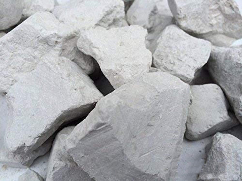 Gray Edible Clay Chunks Natural for Eating, 4 oz (113 g)