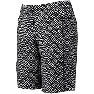 "EP Pro : golf - Floral Piped 20"" Golf Short-EP-Black Multi-003-14"