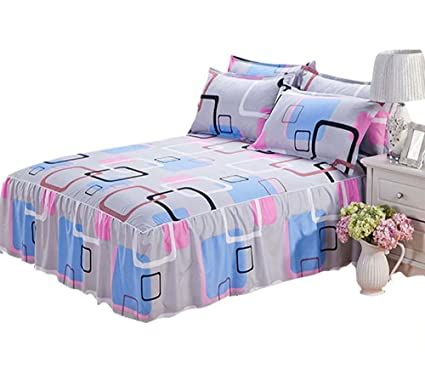 Amazon Com Gray Romantic Flowers Bedding Fitted Sheet Bed Skirt