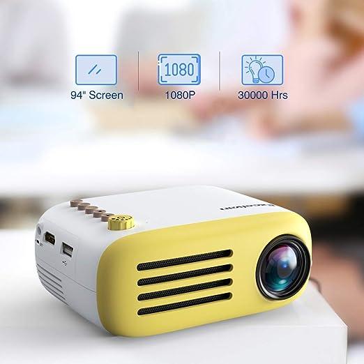 LYDB Proyector YG200 Portátil LED Proyector de Bolsillo Mini ...