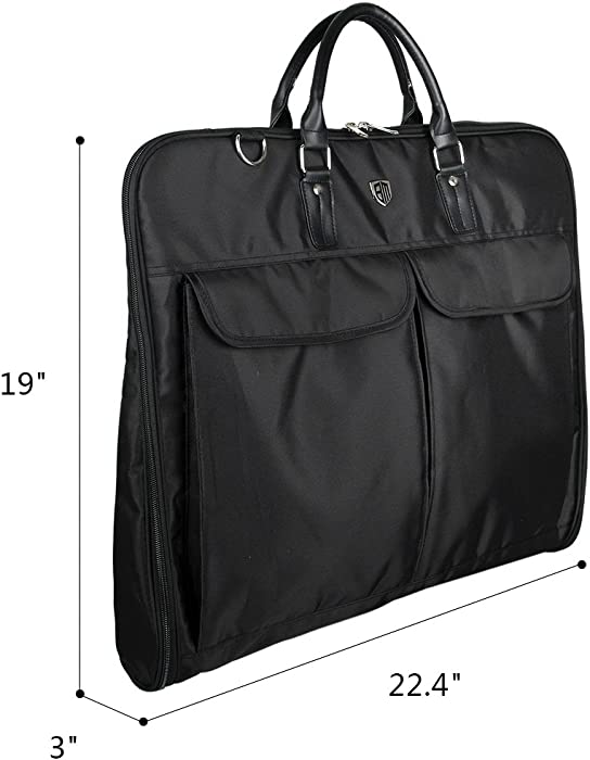 c833cfd8de BAGSMART Garment Bag for Suits and Wedding Dresses with Shoulder Strap and  Hanger, Black