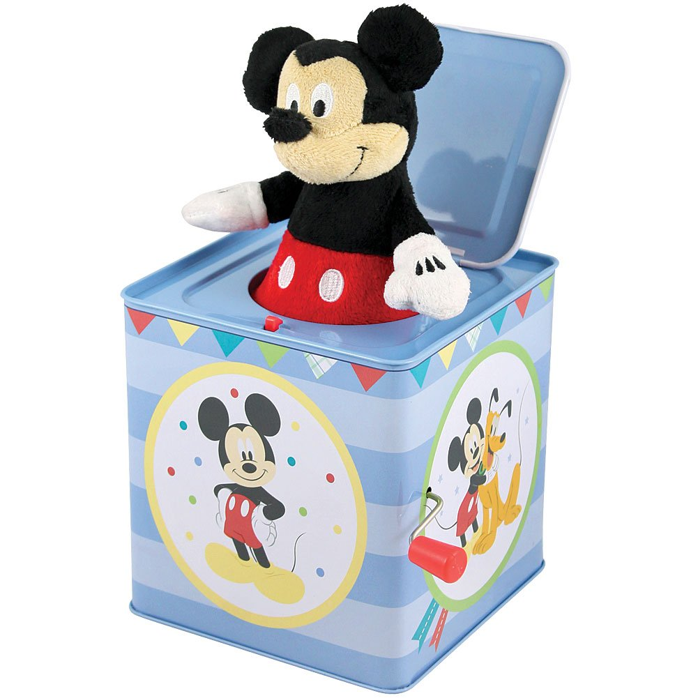 Mickey Mouse Jack In The Box Instrument Kids Toys Baby Music Play Disney New, Rocket Science Toys, 2018