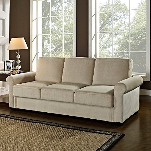 Sofa Lounger Bed 3 Seat Office Furniture Multi-positioning or Patio Lounge Futon for Bedrooms Couch Chair Seat Guests Bed Living Room Hardwood Comfort on Sale for Kids or Adults 88 inch (Living Room Furniture On Sale)
