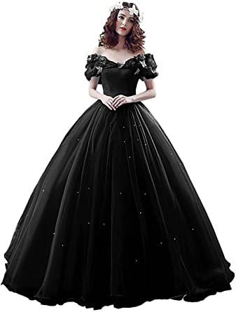Yinyyinhs Women s Ball Gown Cinderella s Off The Shoulder Prom Gown Wedding  Dresses Evening Gown Size 2 3f708c89f