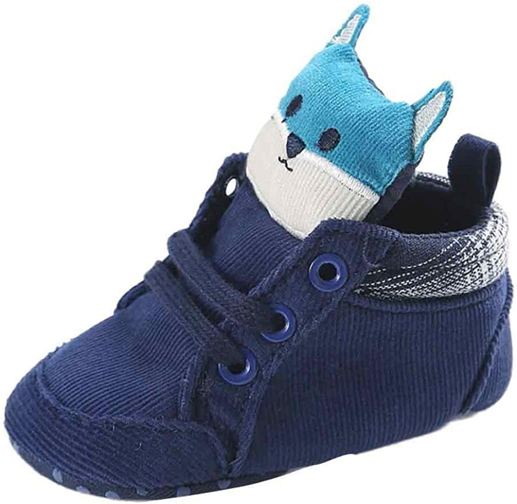 WYXlink Baby Girl Boys Fox Hight Cut Shoes Sneaker Anti-Slip Soft Sole Toddler Canvas Shoes