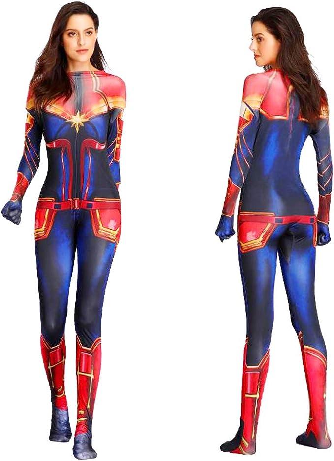 Captain America Women Adult Superhero Fancy Jumpsuit Cosplay Costume Halloween