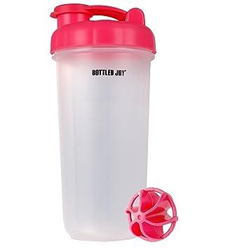 Botella con ventosa para batir proteínas JOY con parte inferior de ventosa, batidora de proteínas