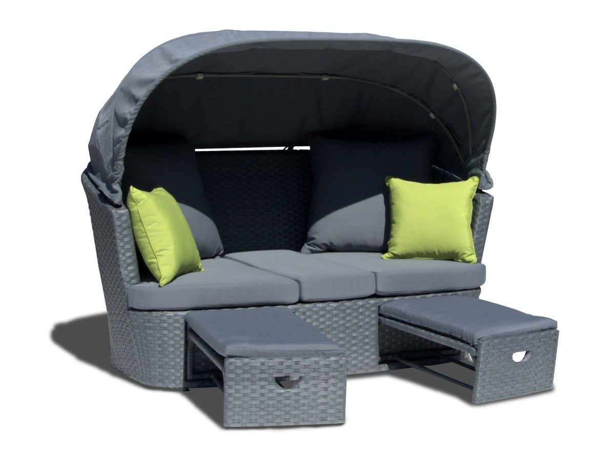 dreams4home 2 er gartensofa 39 estelle 39 gartenm bel mit polster gartensofa loungesofa. Black Bedroom Furniture Sets. Home Design Ideas