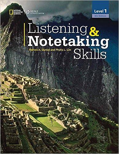 Listening notetaking skills 1 listening and notetaking skills listening notetaking skills 1 listening and notetaking skills fourth edition 4th edition fandeluxe Gallery