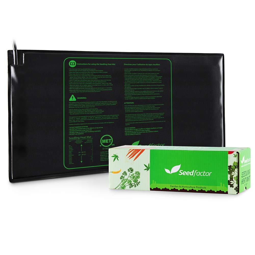 Seedfactor MET Certified Seedling Heat Mat, Waterproof Durable Seedling Heat Mat Warm Hydroponic Heating Pad (48'' X 20'')