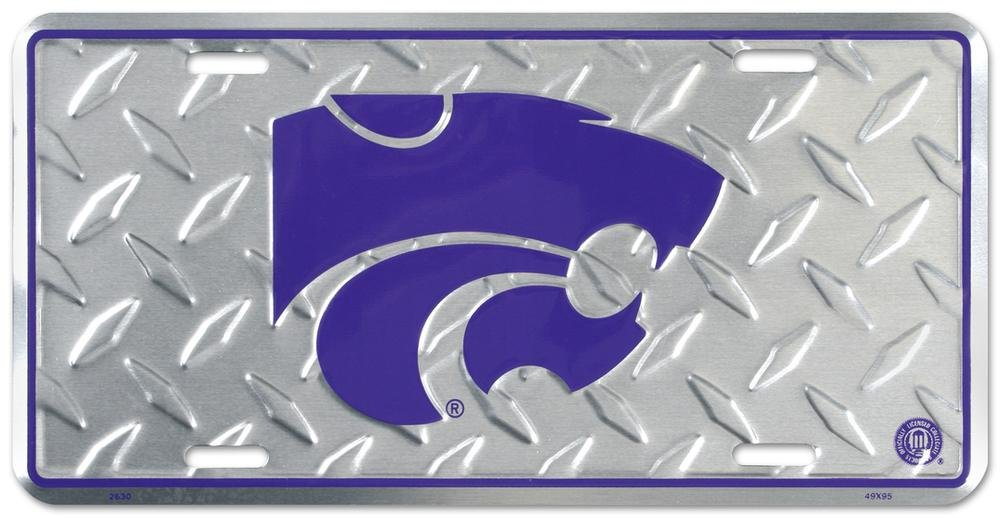 Kansas State Diamond License Plate Tin Sign 6 x 12in Made in the USA