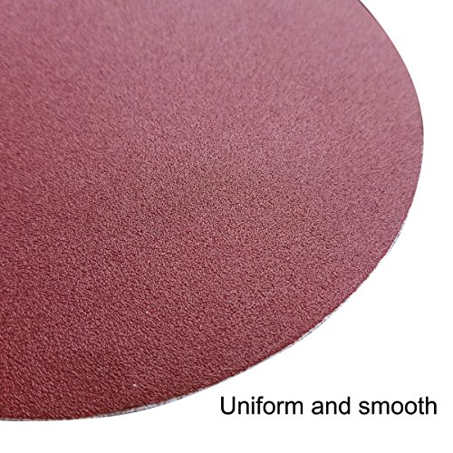 Sackorange 60 PCS 6-Inch NO-Hole PSA Aluminum Oxide Sanding Disc, Self Stick(10 Each of 80 100 120 180 240 400) by SACKORANGE (Image #4)