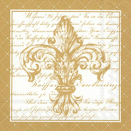 Fleur De Lis Napkin - Boston International L779599 IHR Paper Lunch Napkins, 6.5 x 6.5
