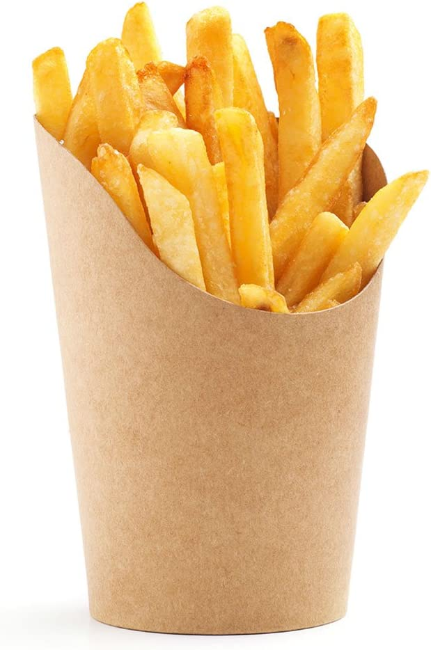 Green Direct French Fries Cup The Perfect Paper French Fries Cup Holder for all Occasions Pack of 50