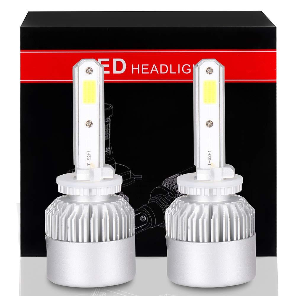 SCITOO 9007 LED Headlight Bulb Conversion Kit High Low Beam Brighter Cree White Light LED Headlight - 9600Lm 80W 6000K Focus Light(2pcs)
