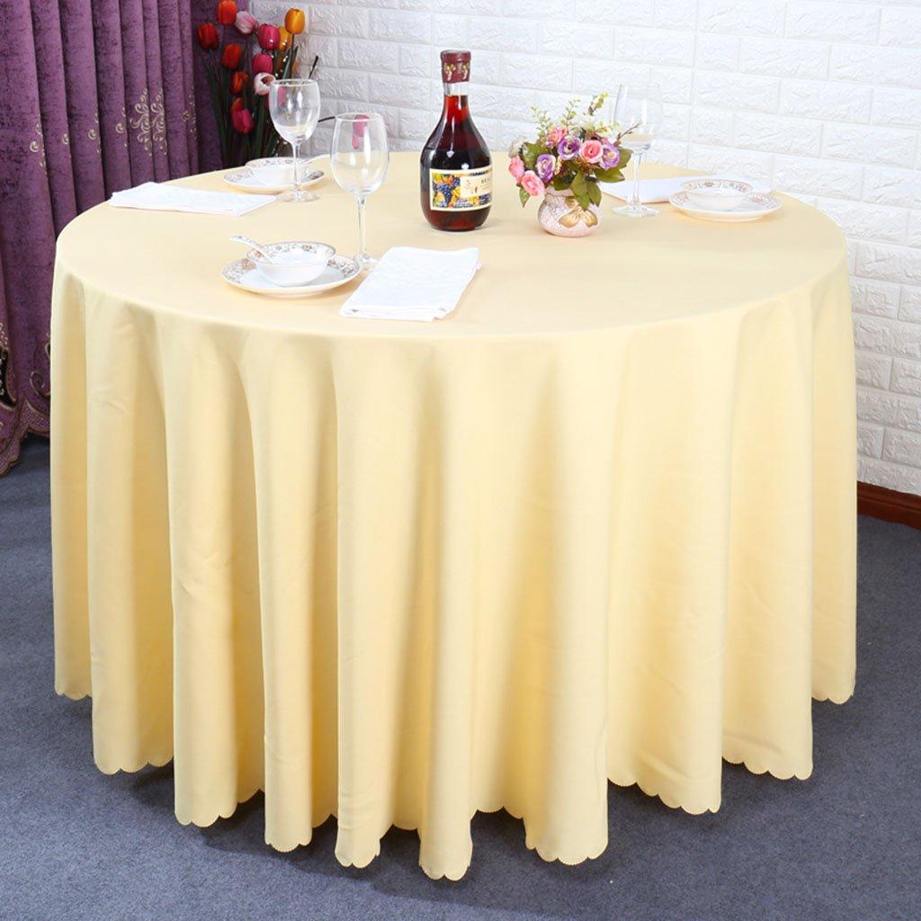 Unbekannt %Tablecloth Hotel-Runde Tischdecke-Restaurant-Runde Tabelle Garten-kampierende Tischdecke-Einfarbige, wasserdicht, Anti-öl, (Farbe   D, größe   Round- 260cm) B07DB81B5M Tischdecken Nutzen Sie Materialien voll aus    Modern Und El