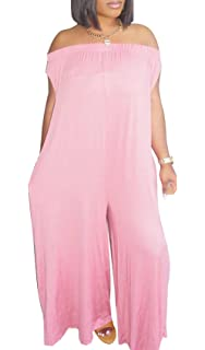 a264f97c0e0 DINGANG Women s Jumpsuits Off The Shoulder Rainbow Print Loose Wide Leg  Pants Jumpsuit Romper with Pockets