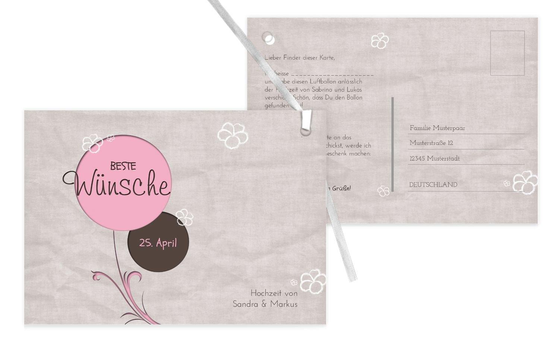 Ballonkarte Fantasyflower, 100 Karten, RosaRosa B07CQDQYZ5 | Neuartiges Design  | Reichhaltiges Design  | Authentische Garantie