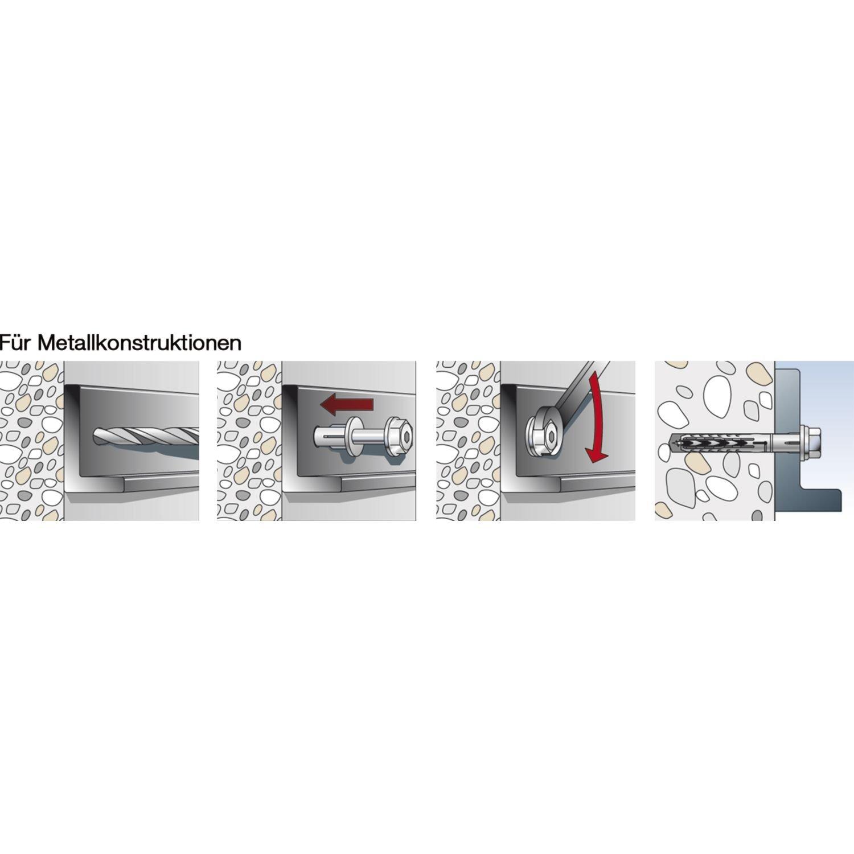 200/pezzi Fischer SXR quadro tasselli Nylon senza vite grigio 47569 10/x 120/mm