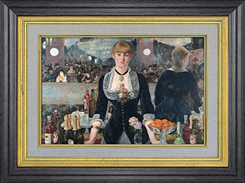 Creative 3D Visual Effect Wall Mural A Bar at the Folies Bergere by Edouard Manet Peel Stick Wall Decor