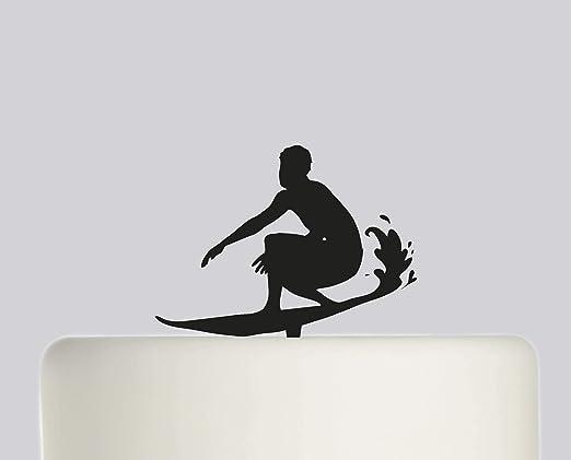 Decoración para tarta de cumpleaños rústica para surfista ...