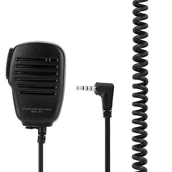 VBESTLIFE Micrófono de Coche Remoto Portátil Micrófono de Mano de Auriculares Jack 3,5 mm