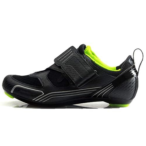 Zapatillas De Ciclismo para Hombres Que Caminan A Prueba De Agua Zapatillas De Triatlón De Seguridad Profesional Zapatillas De Carretera: Amazon.es: Zapatos ...