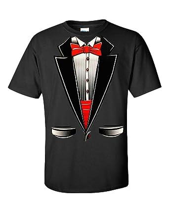 77fb6107c0 Fresh Tees Brand- Tuxedo With Bowtie T-Shirt Funny Shirts (Small, Black