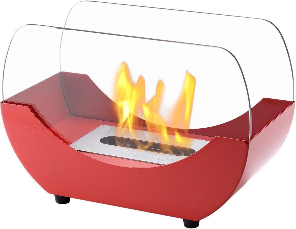 Ignis(イグニス) ポータブルテーブルトップ 通気口のないバイオエタノール暖炉 - LIBERTY レッド TTF-053R