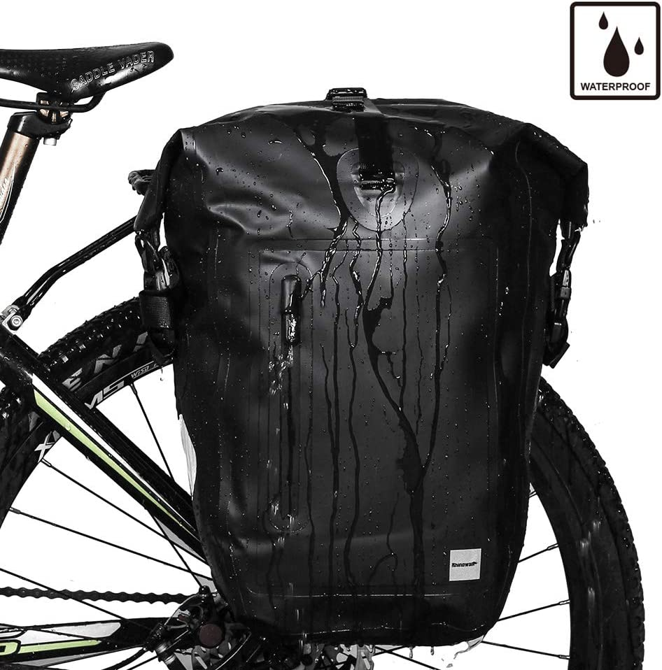 for Bicycle Cargo Rack Saddle Bag Shoulder Bag Laptop Pannier Rack Bicycle Bag Professional Cycling Accessories Rhinowalk Bike Bag Waterproof Bike Pannier Bag,