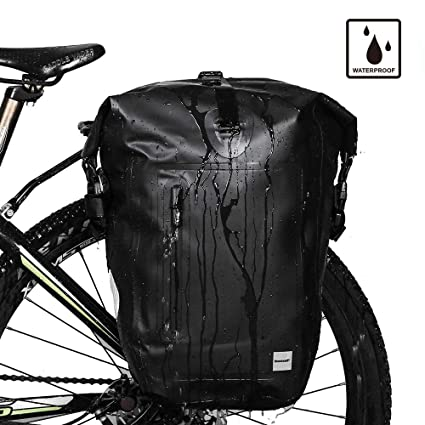 5b35612249e Rhinowalk Bike Bag Waterproof Bike Pannier for Biycle Cargo Rack 25L  Postman Saddle Bag Shoulder Bag