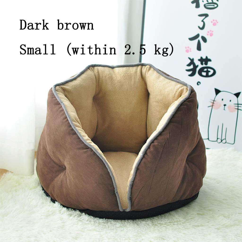 Brown LargeMiaoMiao Pet sleeping bag four seasons universal pet house pet house deep sleep pet nest winter warm (color   GREEN, Size   Xl)
