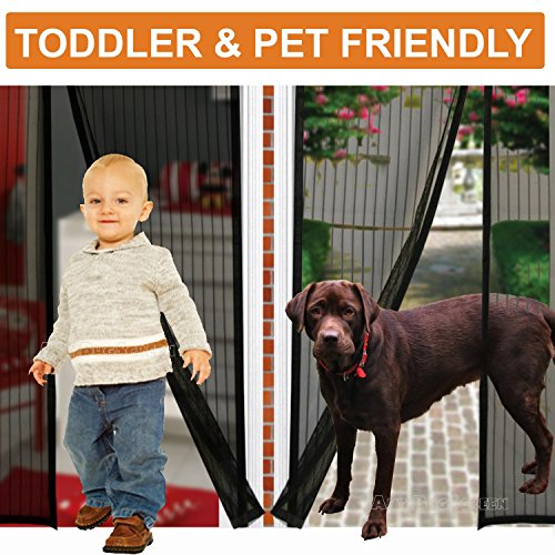[Pack of 10] Magnetic Screen Door, Quick Install Mesh Curtain, Auto Close Magnets, Pet & Toddler Friendly, Walk Through Hands Free, Fit 32'' - 34'' X 82'' Doors. Stop Bugs & Get Fresh Air Into Your Home! by AntiBugScreen (Image #4)