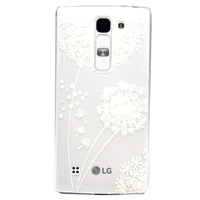 Voguecase Para LG Magna/LG G4c TPU Funda de Silicona de Gel Carcasa Tapa Case Cover (Diente de león elegante) + Gratis aguja de la pantalla stylus ...