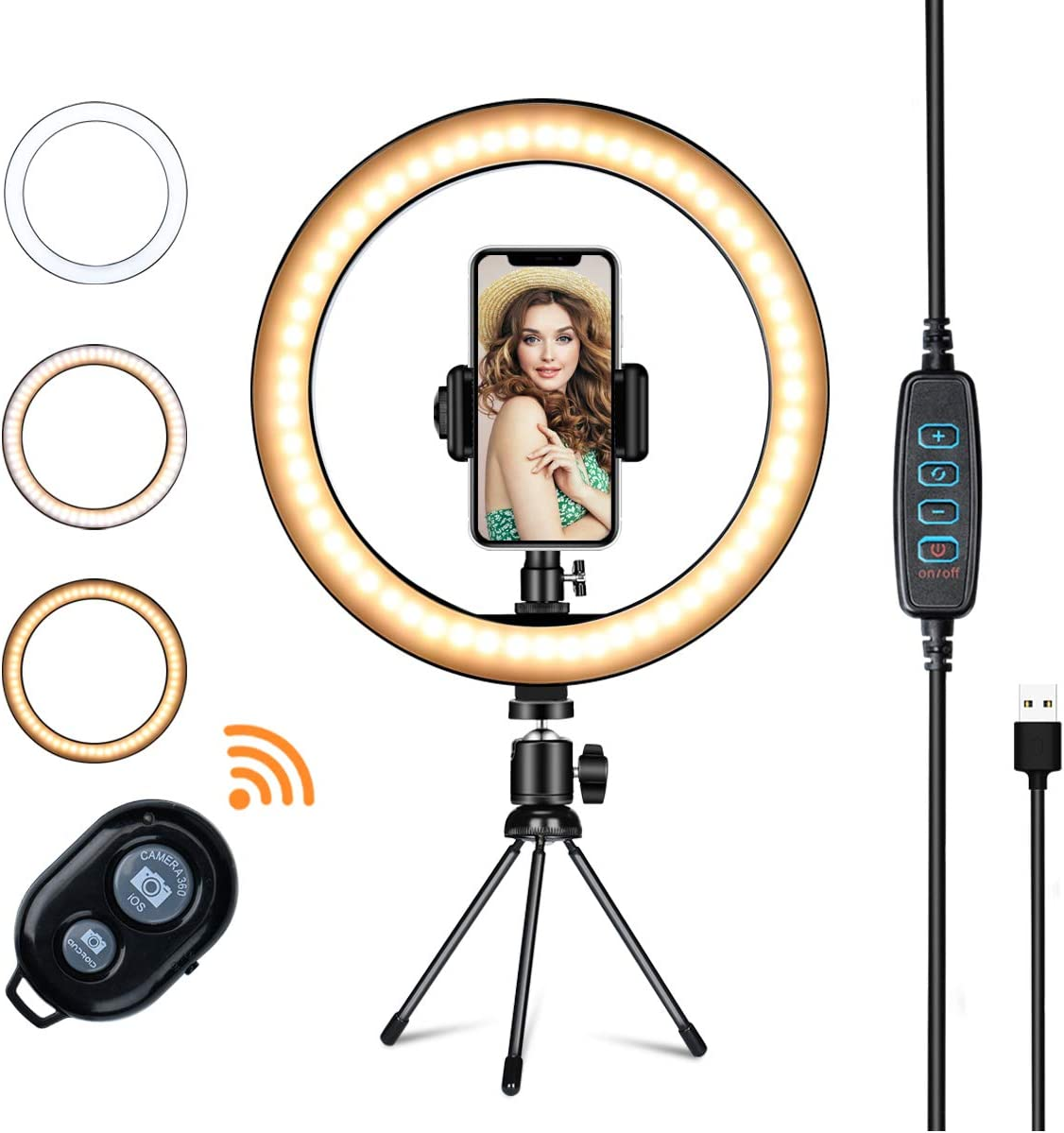LED Ring Light with Tripod Stand,VillSure 10