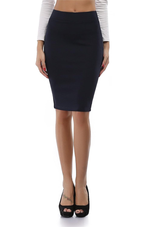 cheapestbuyレディースハイウエストボディコン鉛筆スカートよく伸びるShort Fitted Miniスカートピュアカラー B01LWM3PLF 3L|ブラック ブラック 3L